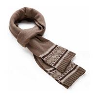 毛线双面格子围脖男士羊绒韩版潮秋冬季保暖 纯色羊毛加长围巾