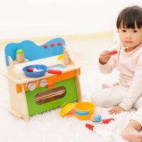 【领券立减50元】木丸子儿童批发过家家早教玩具 厨房木制玩具 宝宝厨具餐具套装