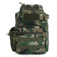 单肩斜跨迷彩包野营户外军迷装备战术包多功能徒步登山包户外装备