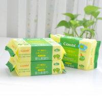 康贝婴儿湿纸巾 手口湿巾80抽 宝宝口手湿巾/柔湿巾(3包装)