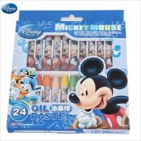 迪士尼 24色油画棒套装 儿童彩笔 油画笔 无毒健康环保