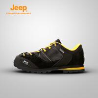 【全场2.5折起】Jeep/吉普 男女户外登山鞋徒步运动情侣鞋牛皮吉普鞋J662039101