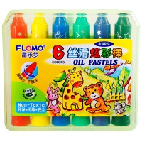 当当自营FLOMO 富乐梦 绘画工具 DIY儿童玩具 6色-丝滑水溶性炫彩棒 13-6806