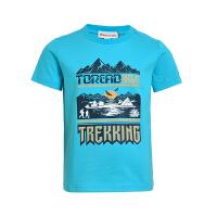 探路者童装 夏装男童针织短袖T恤