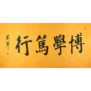 朱军央视著名主持人 书法 博学笃行