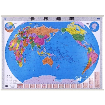 2017世界地图挂图 1.1米x0.