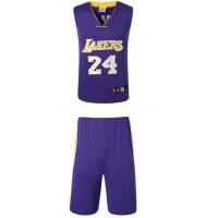 湖人队24号科比紫色球衣白色篮球服24号科比3号艾弗森35号杜兰特1号罗斯2号欧文23号詹姆斯23号乔丹