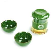 唐丰整套功夫陶瓷冰裂茶具办公旅行干泡一壶二杯泡红茶玻璃套装