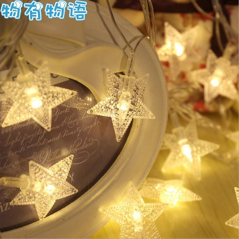 物有物语 节日彩灯 布景道具led彩灯闪灯满天星星灯串拍照电池灯婚房