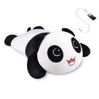 礼无忧 DIY定制衣服 创意笑脸趴趴熊猫音乐枕头 生日礼品送男孩女孩子女友创意实用可爱 礼物公仔