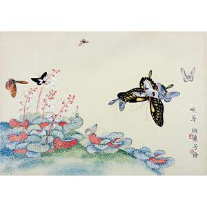 304 梅兰芳 (款)《花香蝶舞》