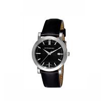 巴宝莉   手表防水 流行石英黑色皮带圆盘情侣对表