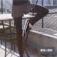 新假两件瑜伽裤健身房跑步紧身运动裤韩版瑜伽女弹力长裤