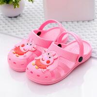 泰蜜熊卡通一体成型环保PVC防滑舒适儿童洞洞鞋沙滩凉鞋