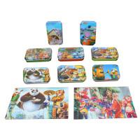 欢乐童年-熊出没拼图 60片铁盒拼图 木质儿童早教益智拼图拼板玩具