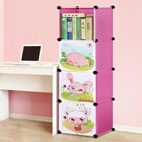 索尔诺卡通书柜儿童书架自由组合玩具收纳柜简易储物置物架书柜