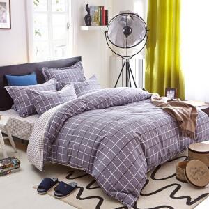 OLYI 全棉床上用品 四件套 斜纹活性印花床单式家纺四件套 床品四件套索菲格 床上四件套