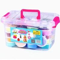 24色超轻粘土套装3D橡皮泥无毒太空泥儿童软陶36雪花黏土彩泥玩具(手提盒)