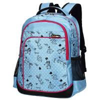 卡拉羊学生书包韩版小学初中女学生书包减负护脊儿童书包双肩背包JX2581