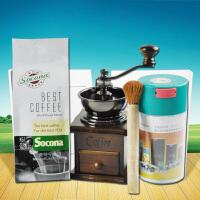 Socona 蓝山咖啡豆250g 进口咖啡粉 送磨豆机密封罐毛刷 包邮