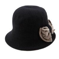 帽子女冬天羊毛呢礼帽韩版潮贝雷帽渔夫帽秋冬盆帽女士毡帽
