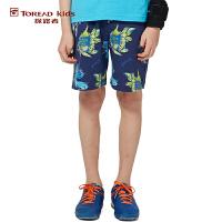 探路者TOREAD品牌童装 户外运动 夏装男童雨林系列满印花短裤