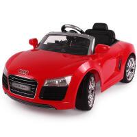 群兴奥迪R8儿童电动车宝宝玩具车四轮可坐带遥控小孩电动汽车电瓶童车