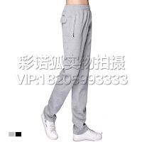 晨练跑步运动裤春秋夏季男士运动长裤棉质休闲卫裤男薄款直筒大码