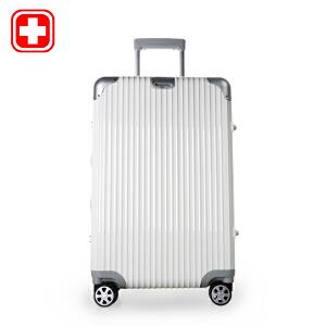 瑞士军刀 万向轮行李箱商务登机旅行箱24寸密码锁拉杆箱硬箱