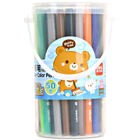 【当当自营】得力(deli)6988 儿童炫彩水彩笔/绘画笔 50色/桶 颜色随机