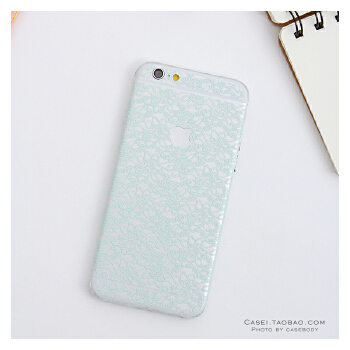 6s手机贴膜i6plus蕾丝花纹透明全身保护边框贴膜