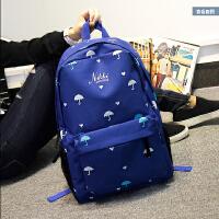 【领券立减50元】双肩包男女韩版时尚潮休闲学院风印花高中学生书包旅行包电脑背包