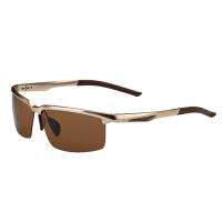海伦凯勒男士铝镁偏光蛤蟆镜 太阳镜 时尚休闲墨镜 H1382