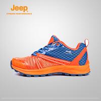 【全场2.5折起】Jeep/吉普 女士越野跑鞋新款户外徒步鞋透气舒适跑鞋J658039040