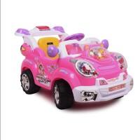 群兴7611 音乐儿童电动车童车四轮遥控可坐电动汽车跑车宝宝车玩具车