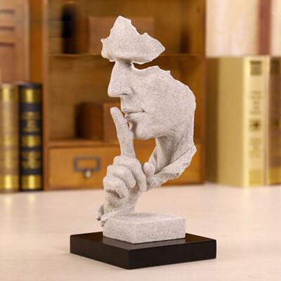沉默是金抽象雕塑艺术品摆件 欧式工艺家居客厅装饰品_其他