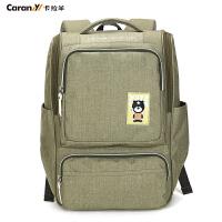 卡拉羊双肩包女韩版潮学院风大中学生书包男士休闲旅行背包CX5856