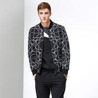 七匹狼冬新款时尚男士青年夹克米兰走秀款男装外套1081534