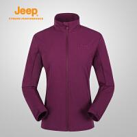 【全场2.5折起】Jeep/吉普 2017春夏女士户外开衫单穿夹克J676011858