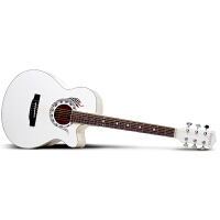Saysn思雅晨40寸白色民谣吉他木吉它初学新手入门jita乐器蛇套装