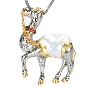戴和美珠宝首饰吊坠 精选珍珠个性镶嵌吊坠胸针