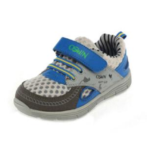 鞋柜OSWIN 帅气拼色魔术贴时尚男童鞋运动鞋