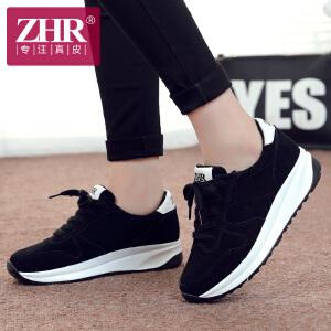ZHR2017春季新款韩版休闲运动鞋女鞋学生跑步鞋女真皮平底鞋阿甘鞋潮M115