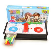 磁性棋子折叠棋盘 益智儿童游戏棋 美式飞行棋