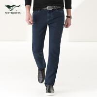 七匹狼 休闲时尚牛仔裤 舒适咖啡碳牛仔裤 都市休闲 4083465