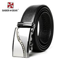 SABER+GEAR军刀时尚休闲商务自动扣皮带腰带SG927