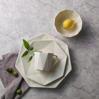 奇居良品 厨房餐厅餐具 卡洛卡陶瓷碗盘水杯4件套装 多款可选