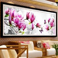 3d印花十字绣蝶戏玉兰花新款卧室十字绣客厅大幅szx花卉简单系列