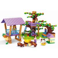 一号玩具 拼装积木批发女孩系列24706树屋儿童玩具拼插积木模型