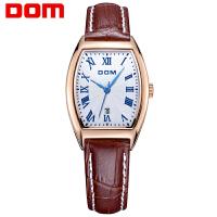 多姆(DOM)手表 联保 女士皮带手表  经典复古女式防水石英表